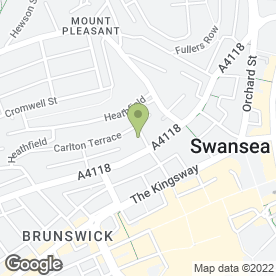 Map of Your Voice Advocacy Project in Swansea, west glamorgan