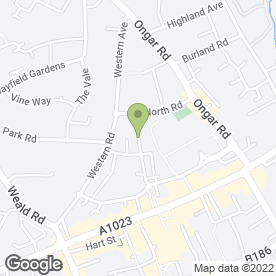 Map of Brentwood Hairdresser in Brentwood, essex