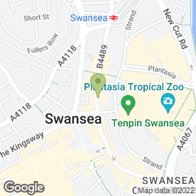 Map of Gloden Tanning & Beauty in SWANSEA, west glamorgan
