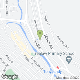 Map of Park Garage in Tonypandy, mid glamorgan