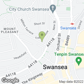 Map of The Forge in Swansea, west glamorgan