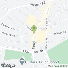 Map of Paul Robinson Solicitors LLP in Billericay, essex