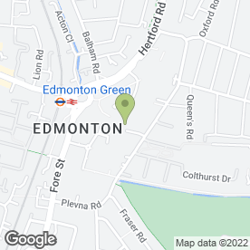 Map of Edmonton Tattoos in London, london