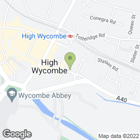 Map of Eat Thai High Wycombe Restaurant in High Wycombe, buckinghamshire