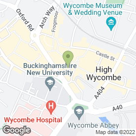 Map of Royal Bank of Scotland in High Wycombe, buckinghamshire