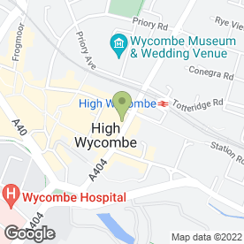 Map of Chiltern Hills Estate Agents in High Wycombe, buckinghamshire