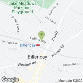 Map of Hutton Kitchens Billericay in Billericay, essex