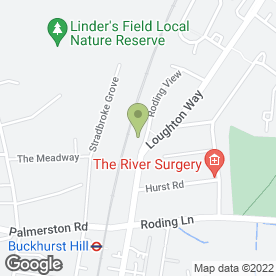 Map of The White House Dental Practice in Buckhurst Hill, London, essex