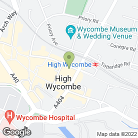 Map of Flame & Fried in High Wycombe, buckinghamshire
