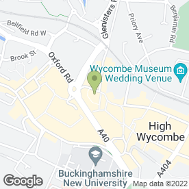 Map of Chicken Cottage in High Wycombe, buckinghamshire
