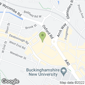 Map of Food Fountain in High Wycombe, buckinghamshire