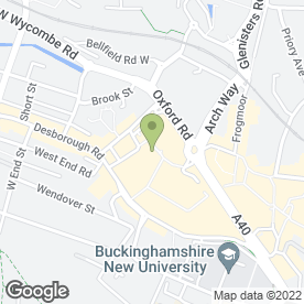 Map of Cineworld Cinemas in High Wycombe, buckinghamshire