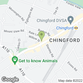 Map of Belgique Chingford in London, london