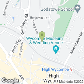 Map of Priory Surgery in High Wycombe, buckinghamshire