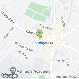 Map of Stilemans in Southgate, London, london