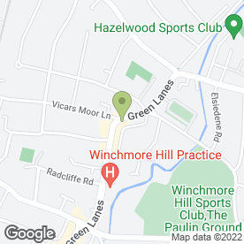 Map of Indulgence for Beauty in Winchmore Hill, London, london