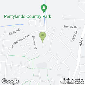 Map of Computations in Highworth, Swindon, wiltshire