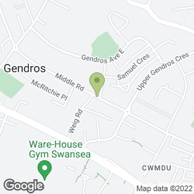 Map of Mile End Bakery in Gendros, Swansea, west glamorgan
