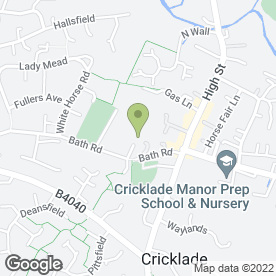 Map of Thames Pre-School in Cricklade, Swindon, wiltshire