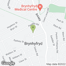Map of ATTWELL in Brynhyfryd, Swansea, west glamorgan