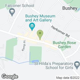 Map of Arthur J Ferryman & Associates in Bushey, hertfordshire