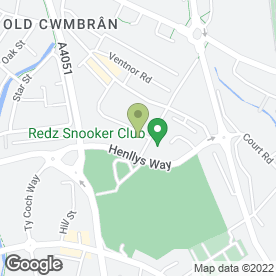Map of Virgo Skip Hire in Cwmbran, gwent