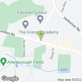 Map of Blythwood Vets in Bushey, hertfordshire