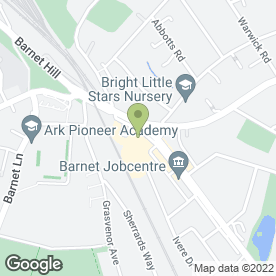 Map of Odeon Cinema in New Barnet, Barnet, hertfordshire