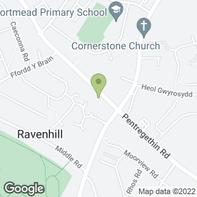 Map of K Hill in Ravenhill, Swansea, west glamorgan