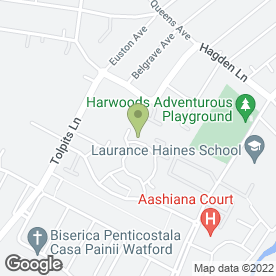 Map of Harlequin Events in Watford, hertfordshire