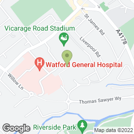Map of Watford Learning in Watford, hertfordshire