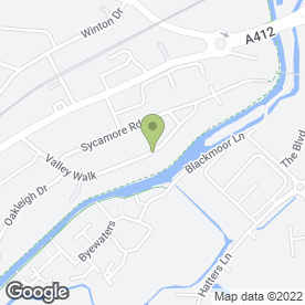 Map of P'Zazz in Croxley Green, Rickmansworth, hertfordshire