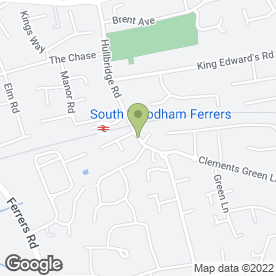 Map of Express Exhausts & Tyres in South Woodham Ferrer, Chelmsford, essex