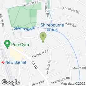 Map of Authentic Thai Massage Therapies in Barnet, hertfordshire