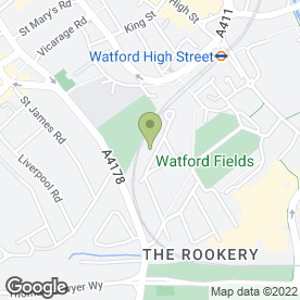 Map of Field Infants School & Nursery in Watford, hertfordshire