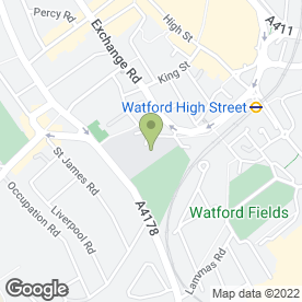 Map of Watford Grammar School for Girls in Watford, hertfordshire