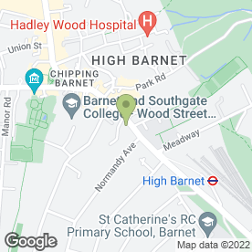 Map of CROMPTON HOUSE SERVICED APARTMENTS in Barnet, hertfordshire