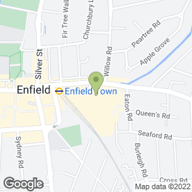 Map of Prudential Window Cleaning in Enfield, middlesex