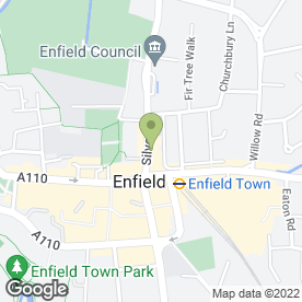 Map of Greggs in Enfield, middlesex