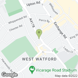 Map of Rathiga Restaurant in Watford, hertfordshire