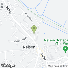 Map of Key Edge in Nelson, Treharris, mid glamorgan