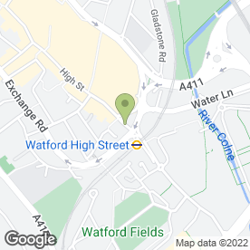 Map of Lawton Prior & Mecklenburgh in Watford, hertfordshire