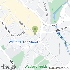 Map of Aromas Cafe & Restaurant in Watford, hertfordshire