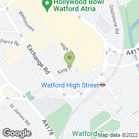 Map of AliBaba Tandoori Restaurant in Watford, hertfordshire