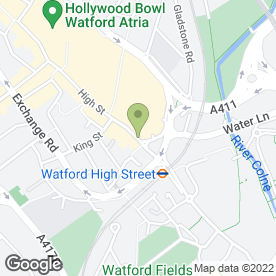 Map of Aura Tanning & Beauty in Watford, hertfordshire