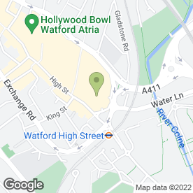Map of Costa in Watford, hertfordshire
