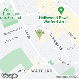 Map of Underground Tattoo & Body Piercing in Watford, hertfordshire