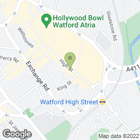 Map of Flight Centre in Watford, hertfordshire