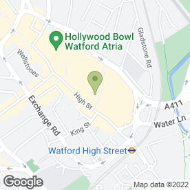 Map of Cafe Giardino (Watford) Ltd in Watford, hertfordshire