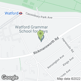 Map of Watford Grammar School for Boys in Watford, hertfordshire